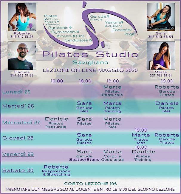 Calendario Settimanale Lezioni On-Line